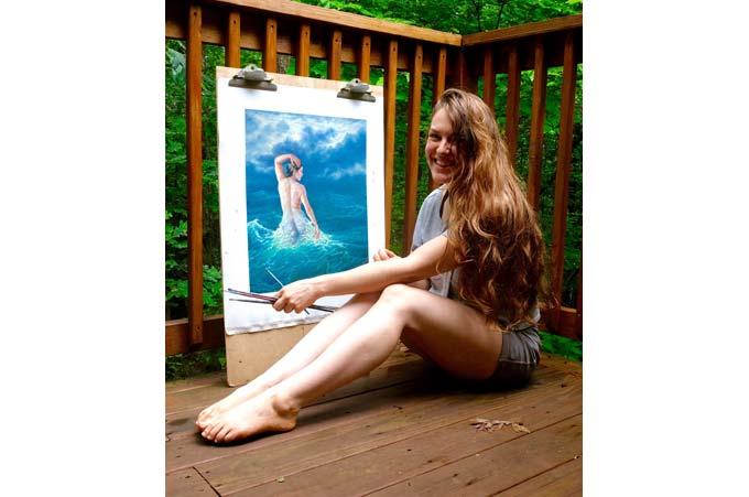 Kristen Eisenbraun self-portrait